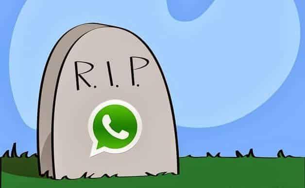 O que acontece se eu apagar a minha conta no WhatsApp
