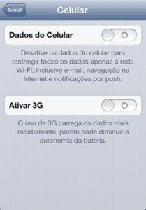 Como forçar 4g no iPhone