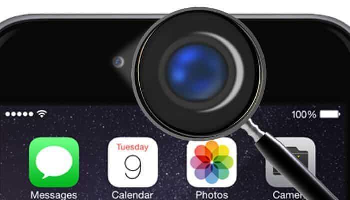 Câmera iPhone com listras