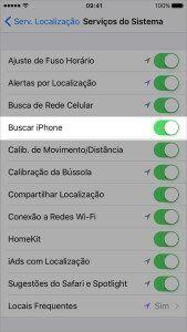 iphone servicos do sistema buscar iphone