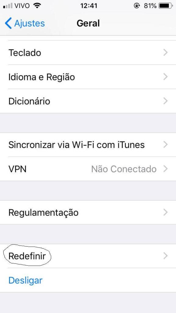 iphone zerado