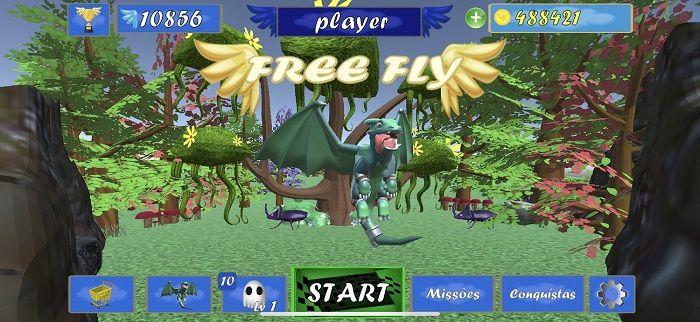 Menu do jogo Free Fly