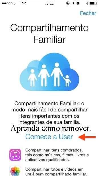 Como tirar alguém do compartilhamento familiar