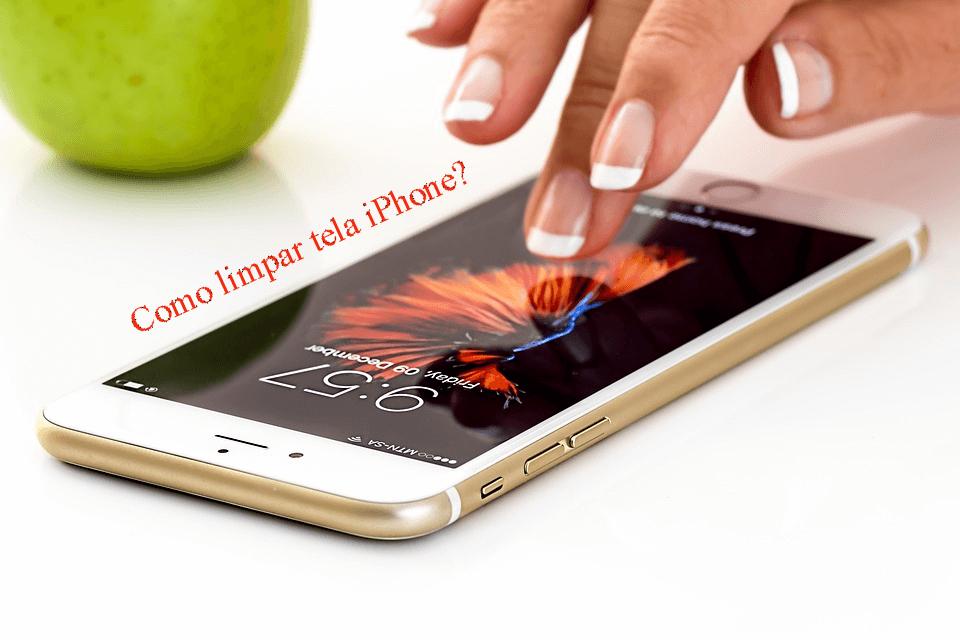 Pode limpar a tela do iPhone com álcool