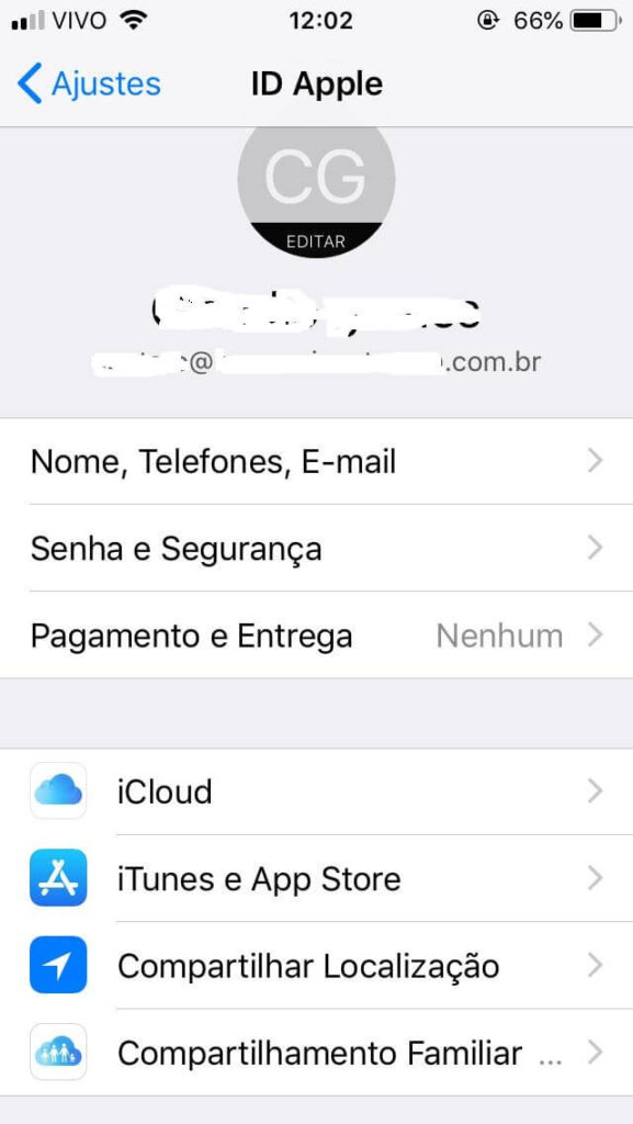 remover membro compartilhamento familiar iPhone