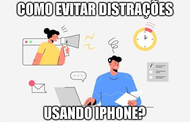 evitar distrações iphone