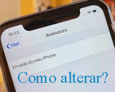 email padrao iphone